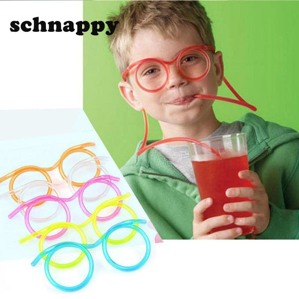 Fun soft plastic funny glasses
