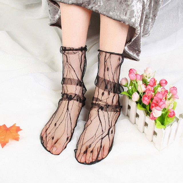 Jasmin Transparent Girl Socks