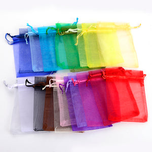 Organza Bags: Decoration Gift Bags - 50 Pieces