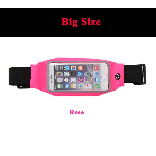Gym Running Waist Bag Armband Waterproof Phone Holder Case