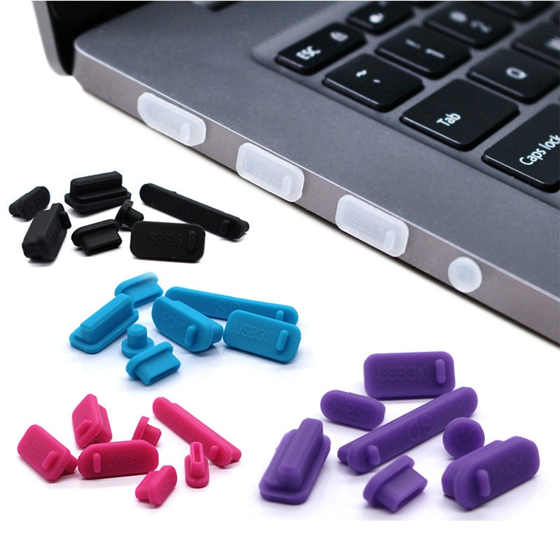 13Pcs/Set Anti Dust Plug For Laptop Silicone Cover  Dust Stopper