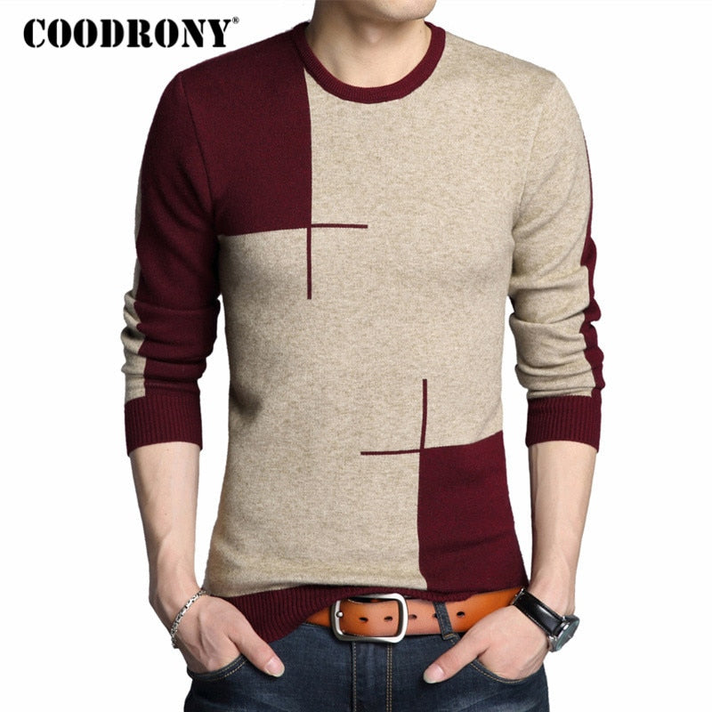 Thick Warm O-Neck Wool Knitted Sweater