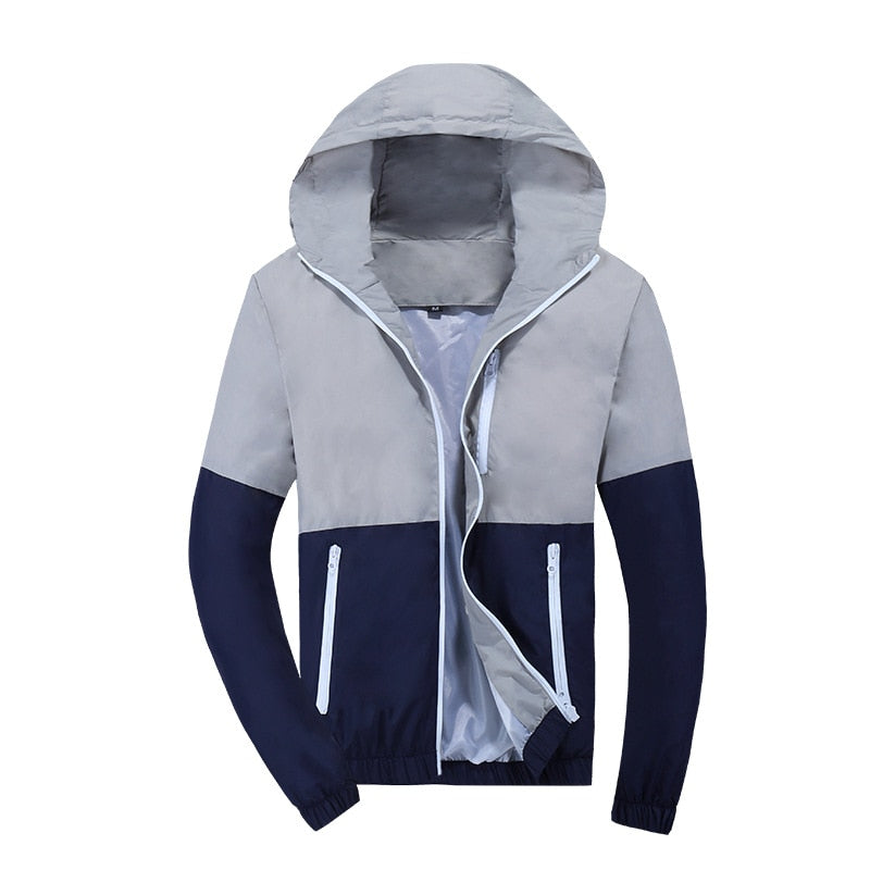 Windbreaker Jacket  Hooded Casual Jackets