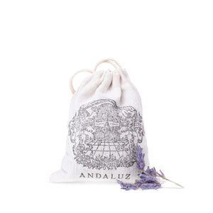 Andaluz Skincare sachets filled with hand-cultivated organic spanish lavender