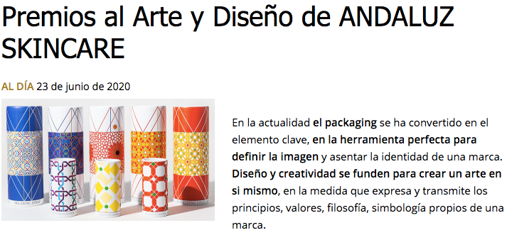 indisa andaluz skincare a design award product packaging