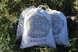Andaluz Skincare Lavender Sachet made with hand harvested organic Spanish spike lavender