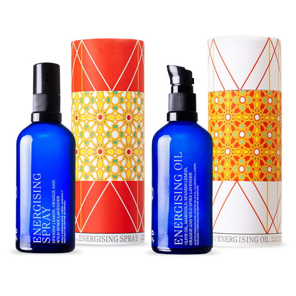ANDALUZ Skincare Energising Duo - citrus moisturising oil and facial spray