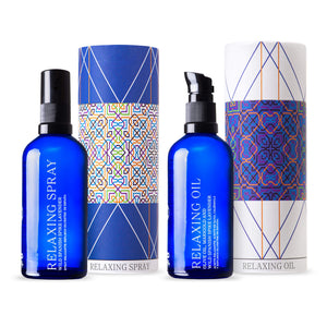 ANDALUZ Skincare Relaxing Duo - Moisturising Oil and Sleep Spray with organic Spanish Lavender