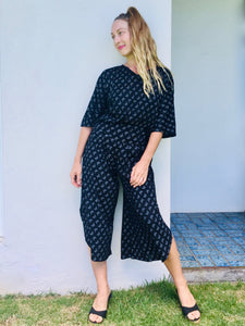 organic pants, Women's, Women clothing, organic cotton pants, culotte pants, culotte, black pants