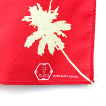 Load image into Gallery viewer, PALM TREE Organic Cotton Bandana in RED