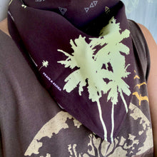 Load image into Gallery viewer, PALM TREE Organic Cotton Bandana in BROWN
