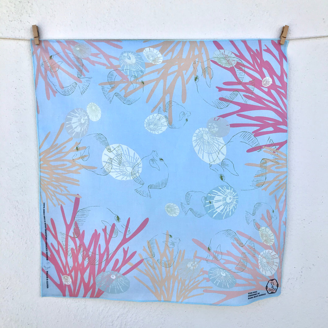 TIDE POOL Organic Cotton Handkerchief