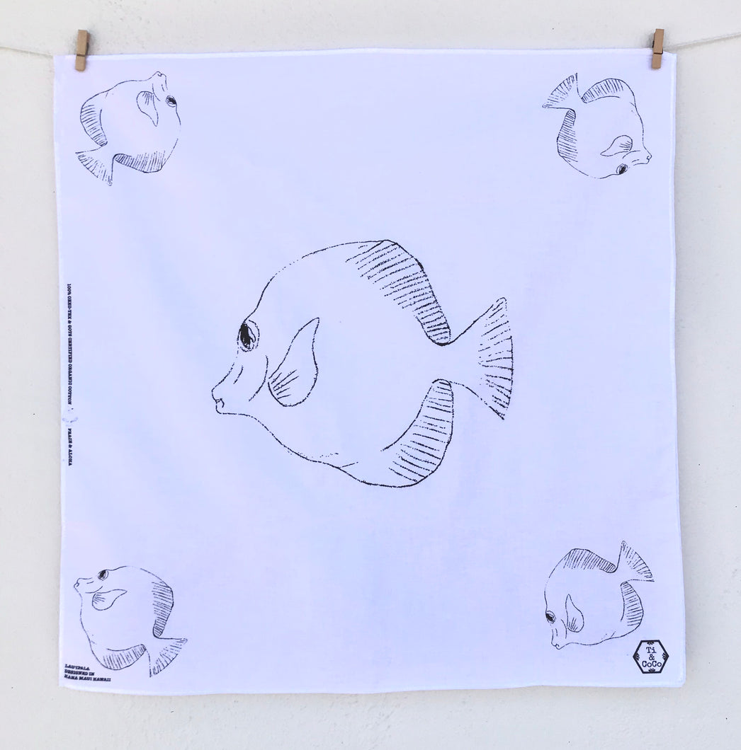 FISH Organic Cotton Bandana in White