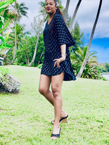 Black dress, lenzing Tencel, tence dress, women's , women's dress, summer dress, tropical chic, ss19, hawaii fashion, fashion, conscious fashion, sustainable clothing, sustainable fashion, conscious clothing, tencel