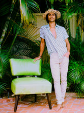 Load image into Gallery viewer, 100% Linen Unisex MOA Aloha Shirt,Aloha, Aloha shirt, Men's shirt, Aloha outfit, Aloha attire, Half sleeve shirts, Men's clothing, Men's fashion, Men's Linen shirt, Men's sustainable fashion, Men's clothing, Aloha prints, Aloha shirt design, Hawaii, Maui, Hawaii clothing