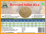 Barnyard Millet Rice: 1Kg - Organic and Unpolished Nirvapate Agro PVT LTD