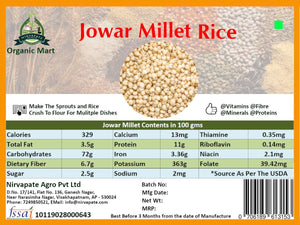 Jowar Millet (Sorghum) - 1Kg - Organic and Unpolished Nirvapate Agro PVT LTD