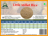 Little Millet Rice: 1Kg - Organic and Unpolished Nirvapate Agro PVT LTD