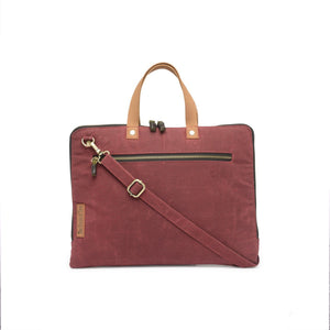 The House of Tara Slim Laptop Bag (Tibetan Red) HTLB 061