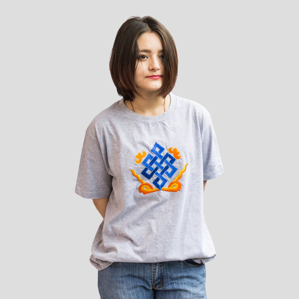 Eternal Knot Embroidered T-Shirt