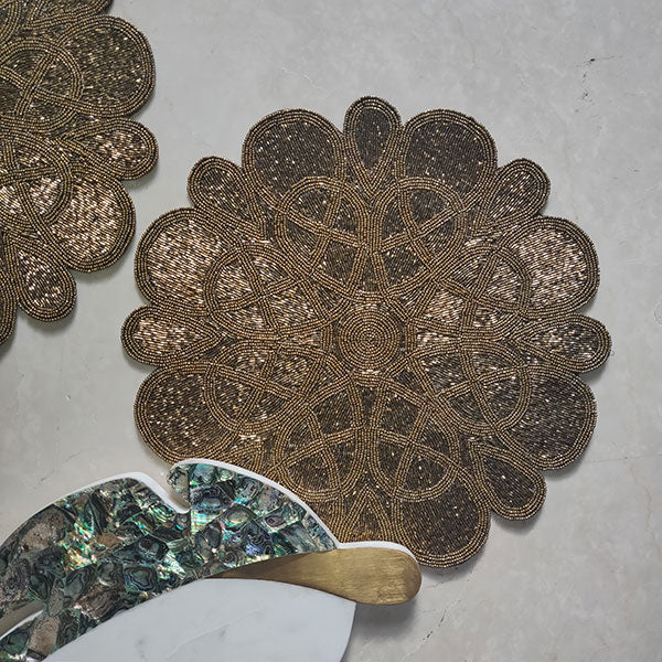 Glass Beaded Table Placemats From India