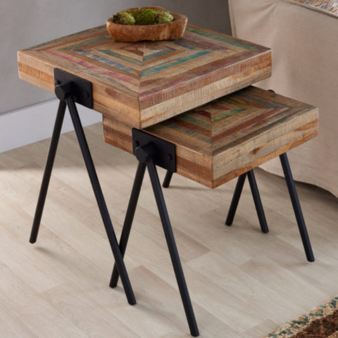 Reclaimed Wood Nesting Tables Exporters India