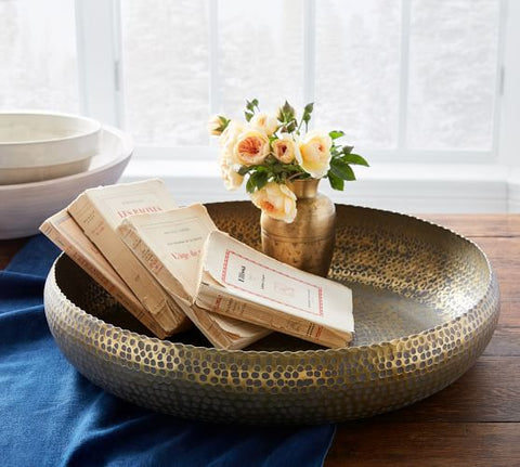 Hammered Metal Bowl for Home Decor