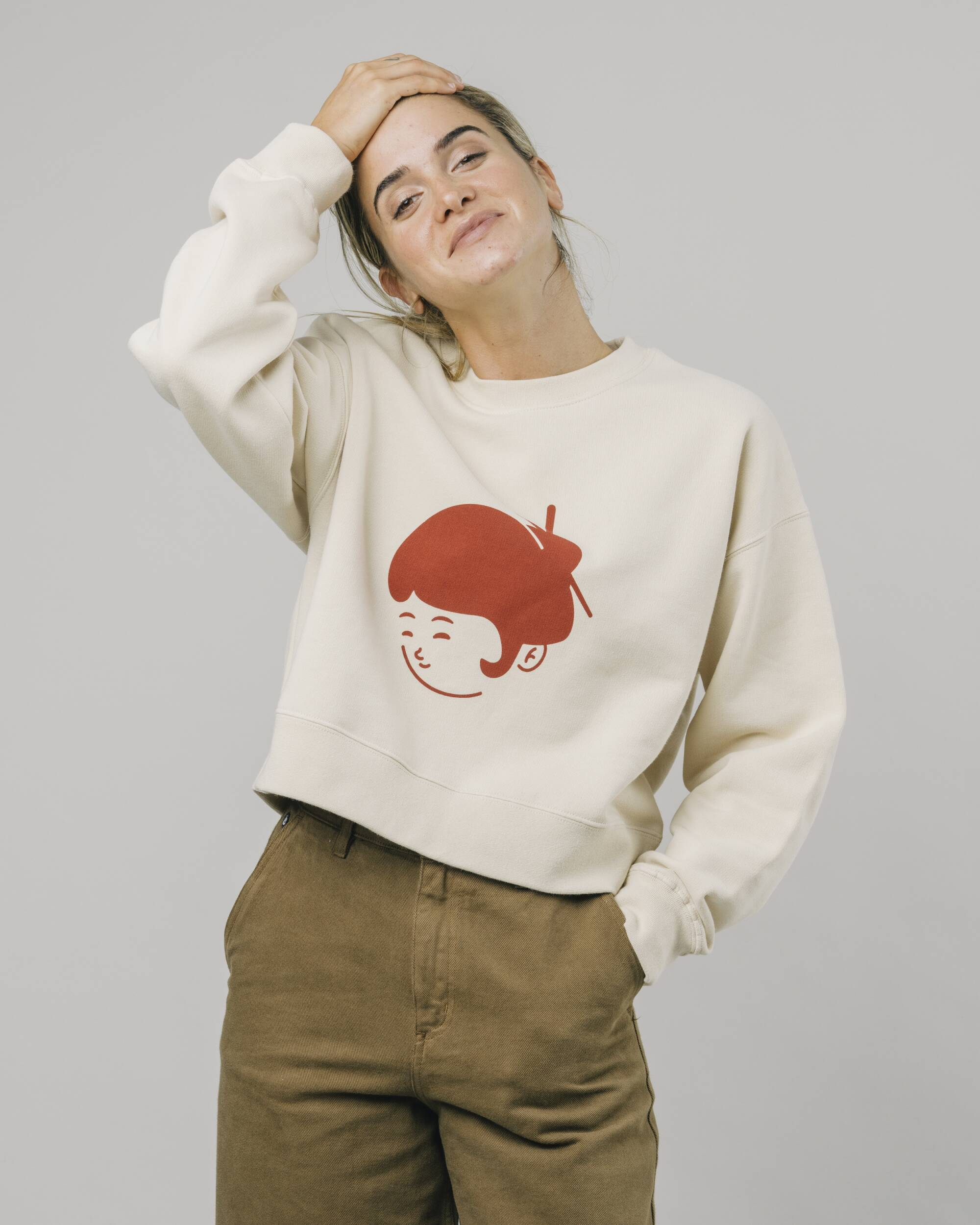 Brava Fabrics - Women's Sweatshirt - Sweatshirt for Women - 100% Organic Cotton - Model Yoko