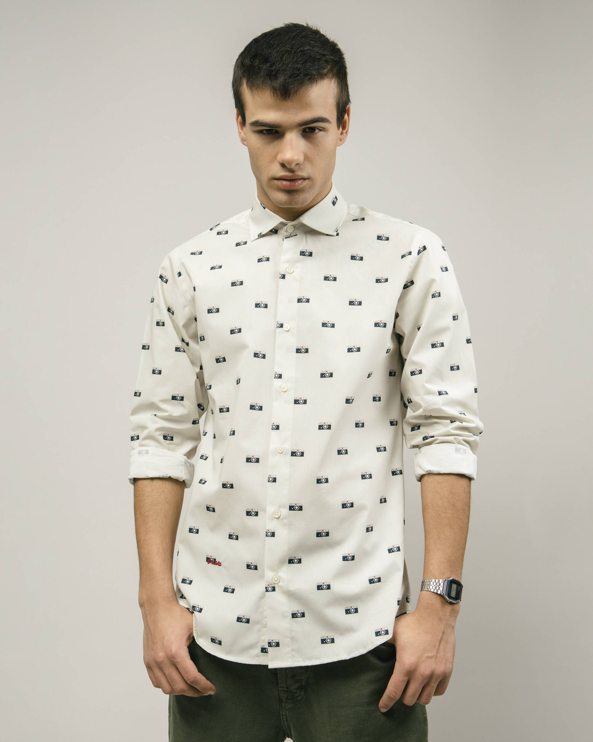 Capa's Camera Printed Shirt