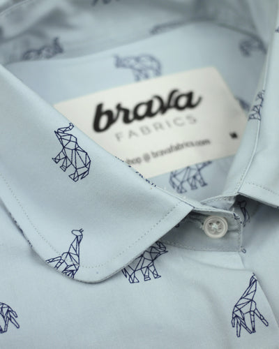 Brava Fabrics - Women's Blouse - 100% Cotton - Printed Blouse - Late Night Ramen Printed Blouse