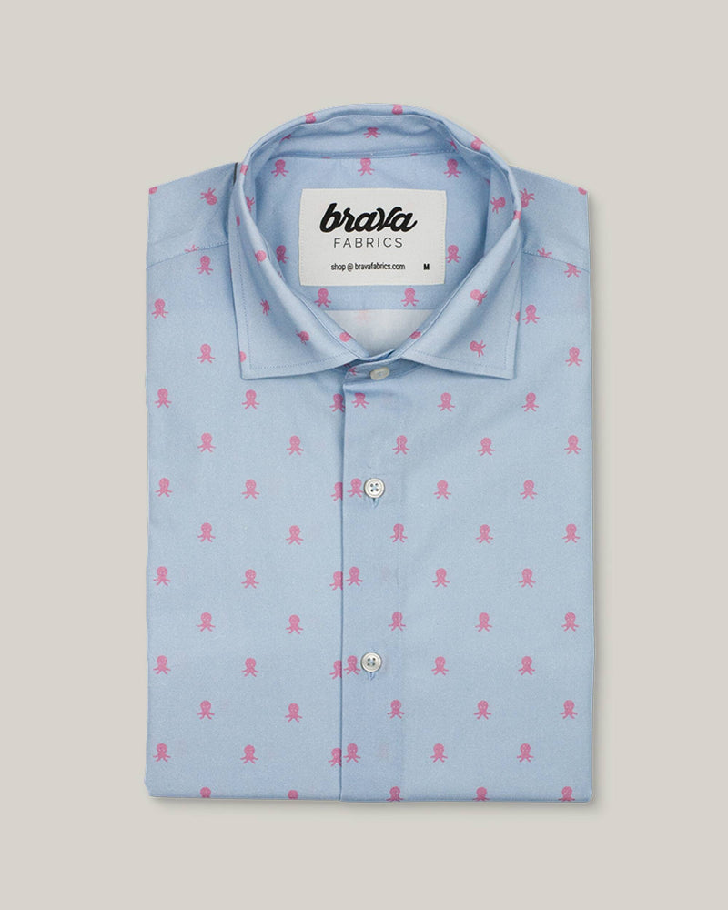 Pink Octopus Printed Shirt