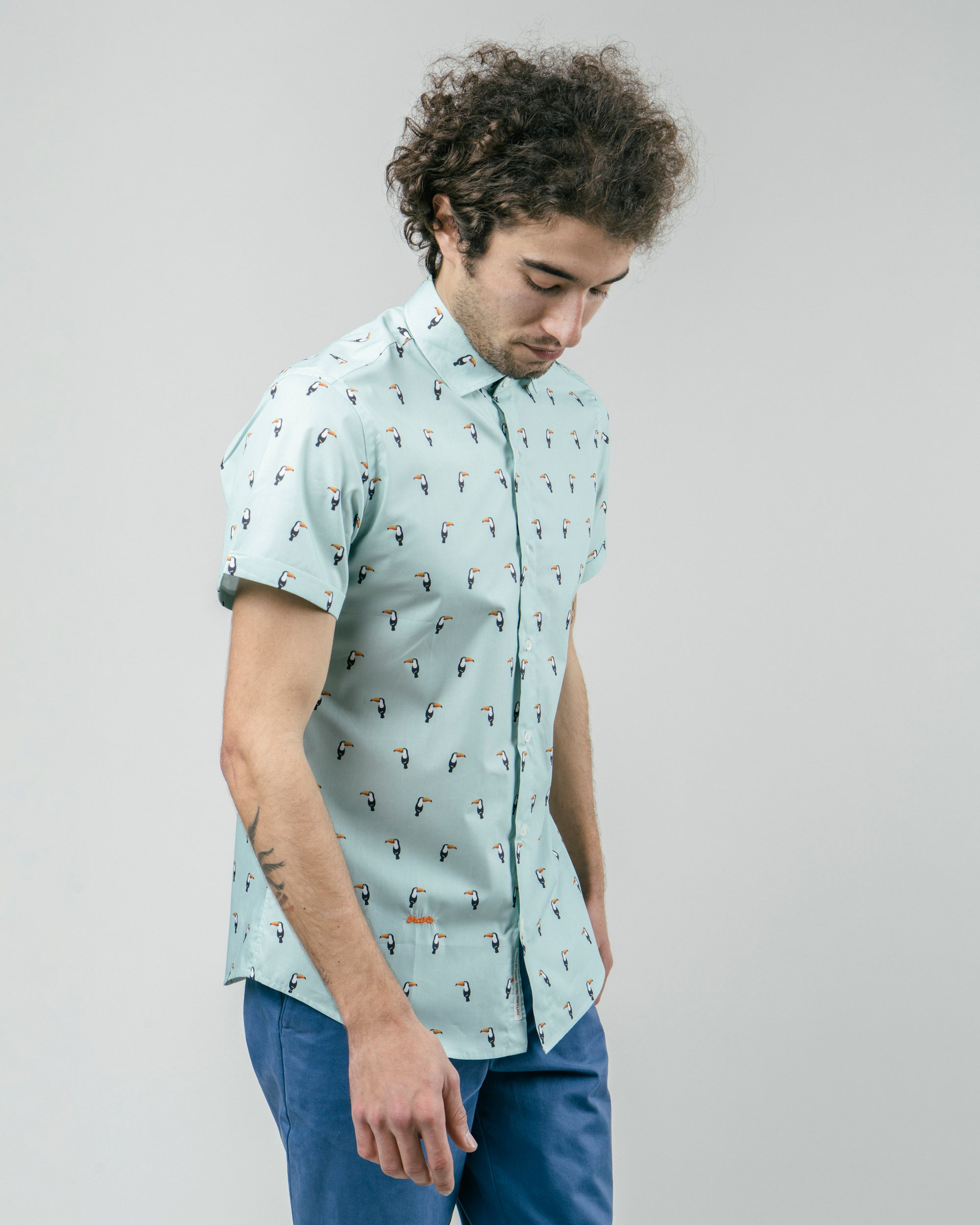 Tropical Tucan Printed Shirt
