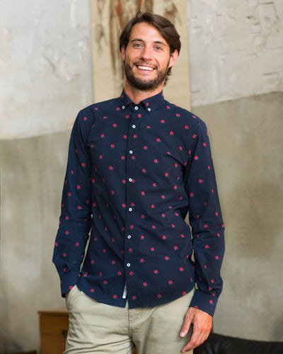 Brava Fabrics - Men's Shirt - Men's Casual Shirt - Men's Shirt - 100% Cotton - Model The End