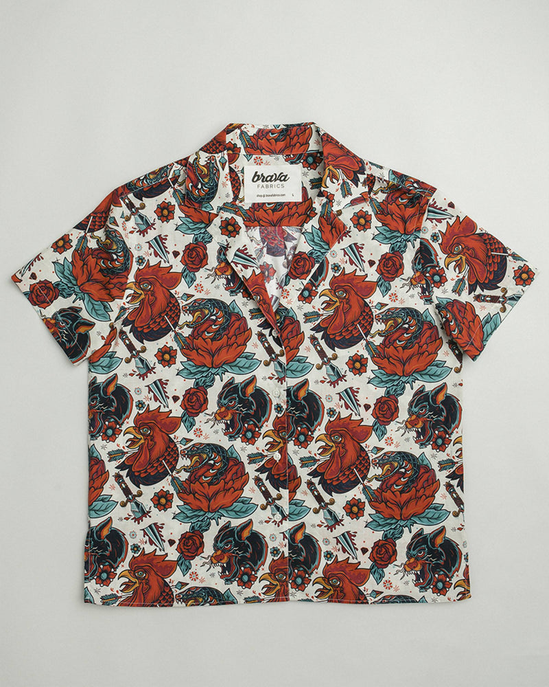 Oldschool Tattoo Aloha Shirt