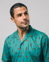 Brava Fabrics - Aloha Shirt - Hawaii Shirt for Men - 100% Organic Cotton - Model Roar Roar