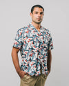 Brava Fabrics - Aloha Shirt - Hawaii Shirt for Men - 100% Organic Cotton - Model Crane for Luck