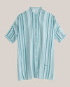 Brava Fabrics - Shirt Dress - Oversized Dress - 100% Ecovero Viscose - Model Aqua Promenade