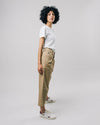 Brava Fabrics - Highwaist Culotte Pants - Highwaist Womens Pants - 100% Organic Cotton - Model Beige