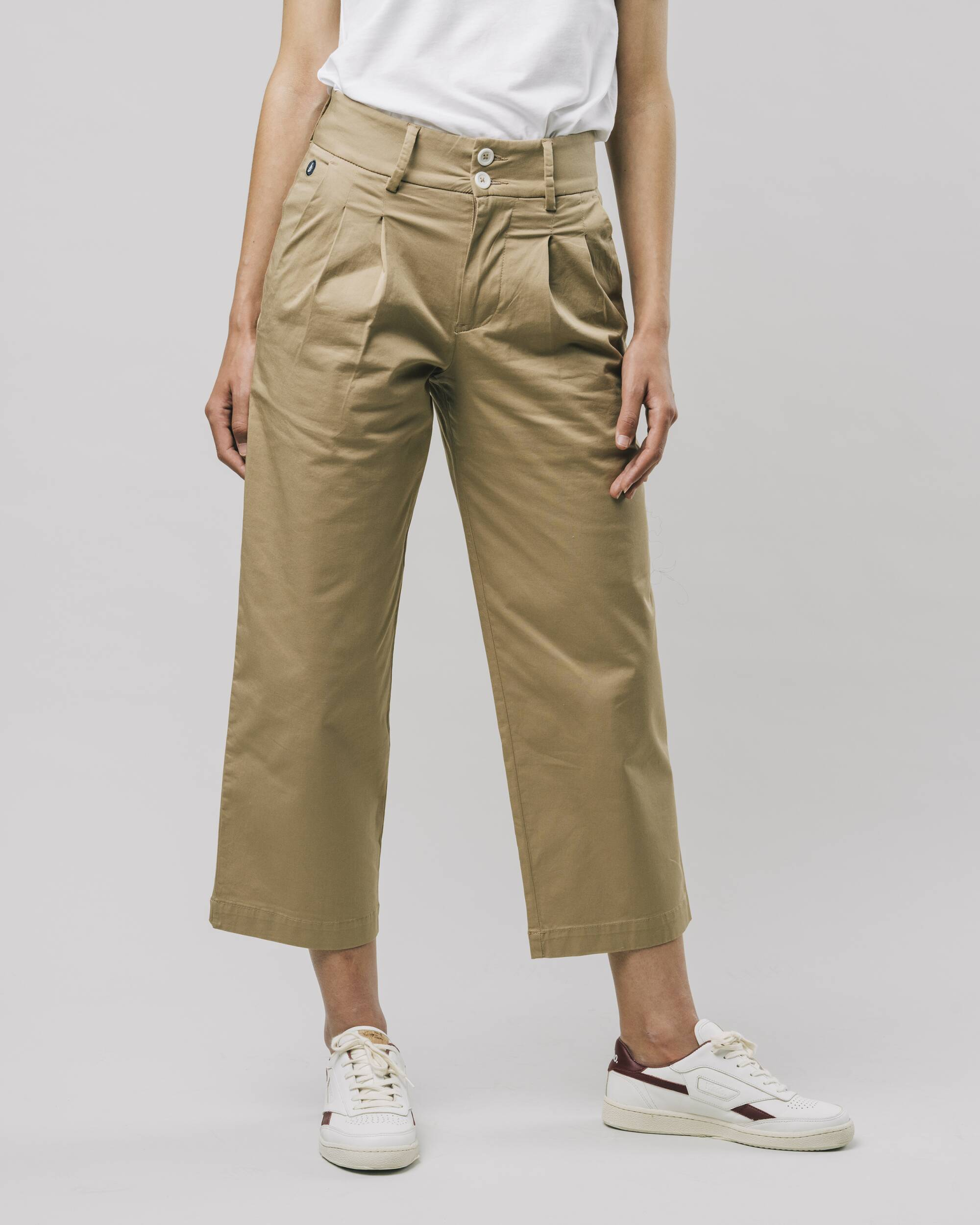 Highwaist Pleated Pants Beige