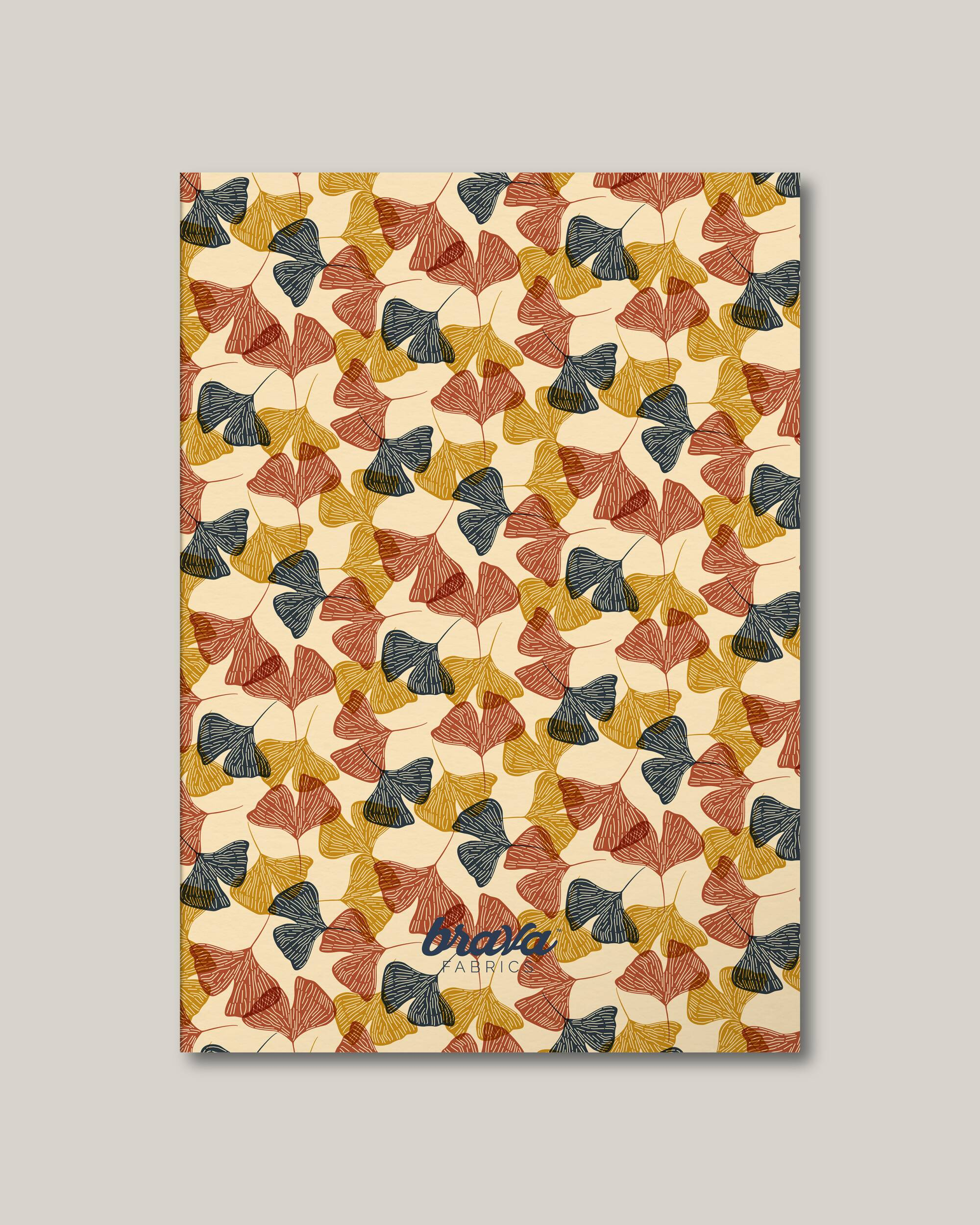 Brava Fabrics - Notebook - Sustainable Notebook - Notebook FSC certified - Model Gingko