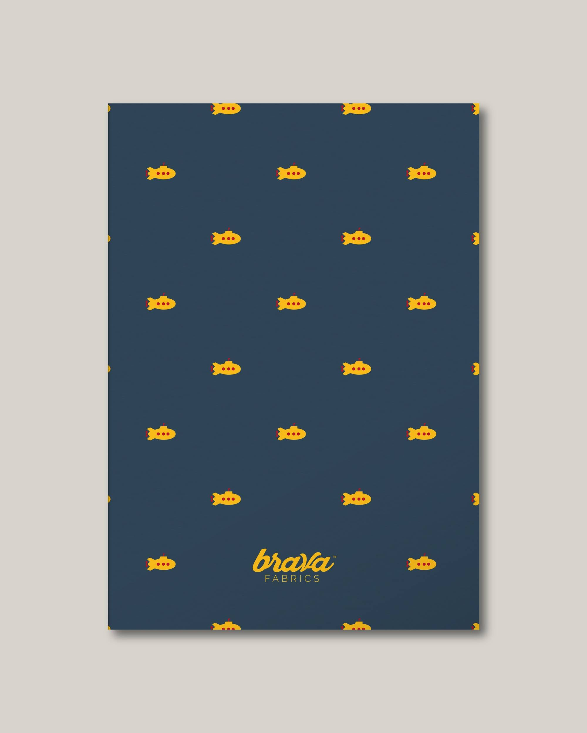 Brava Fabrics - Notebook - Sustainable Notebook - Notebook FSC certified - Model Yellow Submarine