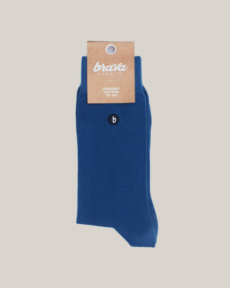 Organic Cotton Socks Blue