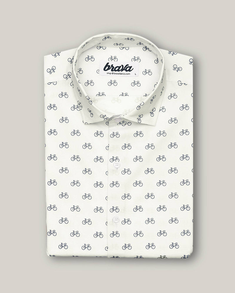 Fixed Gear Rider Printed Shirt