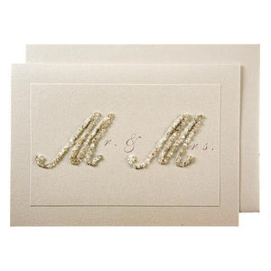 Beaded Mr & Mrs Card
