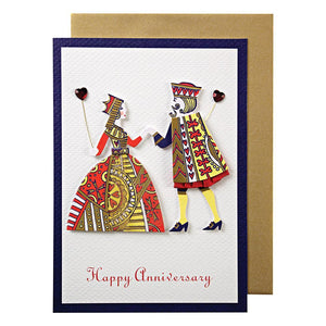 King and Queen <br> Happy Anniversary Card