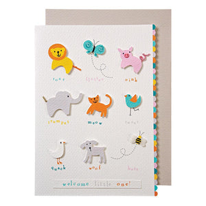 Animals <br> New Baby Card