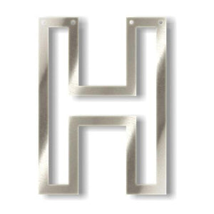 Silver H Acrylic Bunting