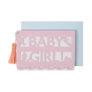 Baby Girl <br> Gift Card Enclosure