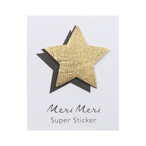 Leatherette Sticker Star