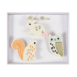 Woodland Creatures <br> Fabric Brooches